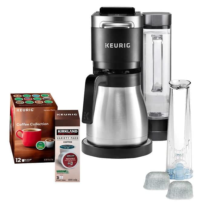 Keurig K-Duo Plus C Coffee Maker, with Single Serve K-Cup Pod and 12 Cup Thermal Carafe Brewer $159.99