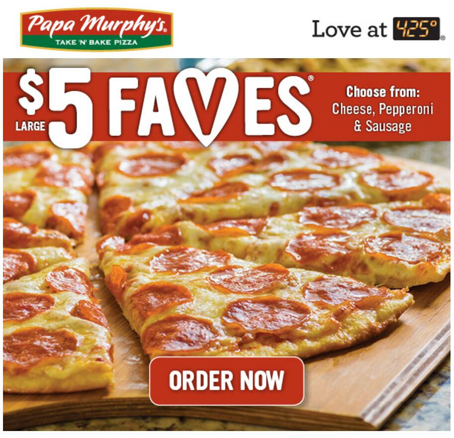 Nov 13, · Save 25% or more at Papa Murphys. 5 other Papa Murphys coupons and deals also available for December Search. menu Home; pepperoni,m or sausage pizza for $5. Print Coupon Printable Coupon Used 84 times Our team is confident that we have found the newest Papa Murphys coupons. Feel free to share with us if we've missed /5(14).