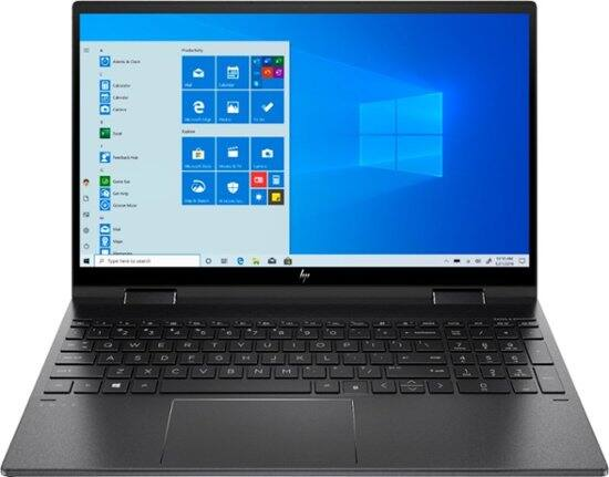 HP - ENVY x360 2-in-1 15.6 Touch-Screen Laptop - AMD Ryzen 5 4500u - 8GB Memory - 256GB SSD - Nightfall Black $629