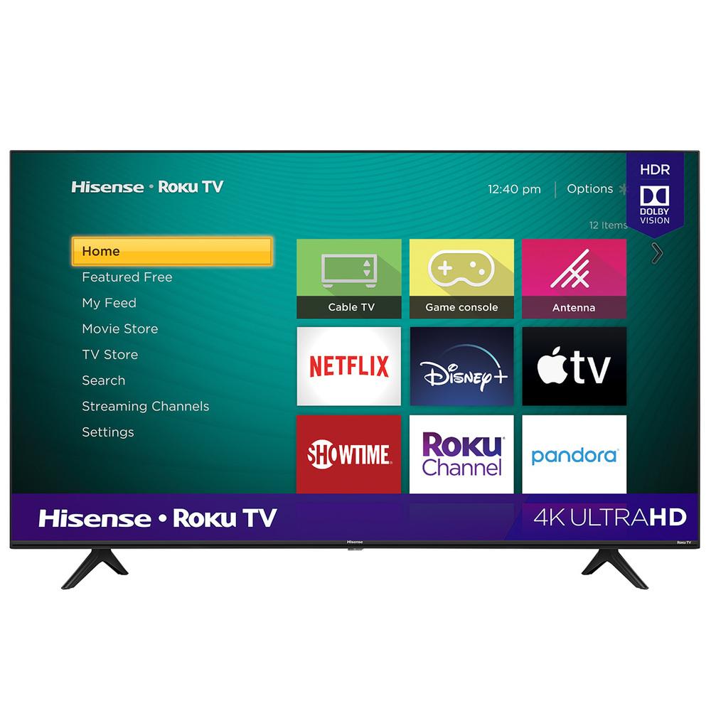 "Hisense 50"" R6 Series 4K Roku TV $230"