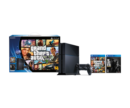 Sony PlayStation 4 with GTA V and The Last of Us BUNDLE: $349.99 + TAX FREE SHIPPING YMMV PayPal Checkout Required
