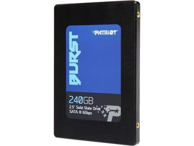 "Newegg - Patriot Burst 2.5"" 240GB SATA III SSD PBU240GS25SSDR $19,99 AR $8"