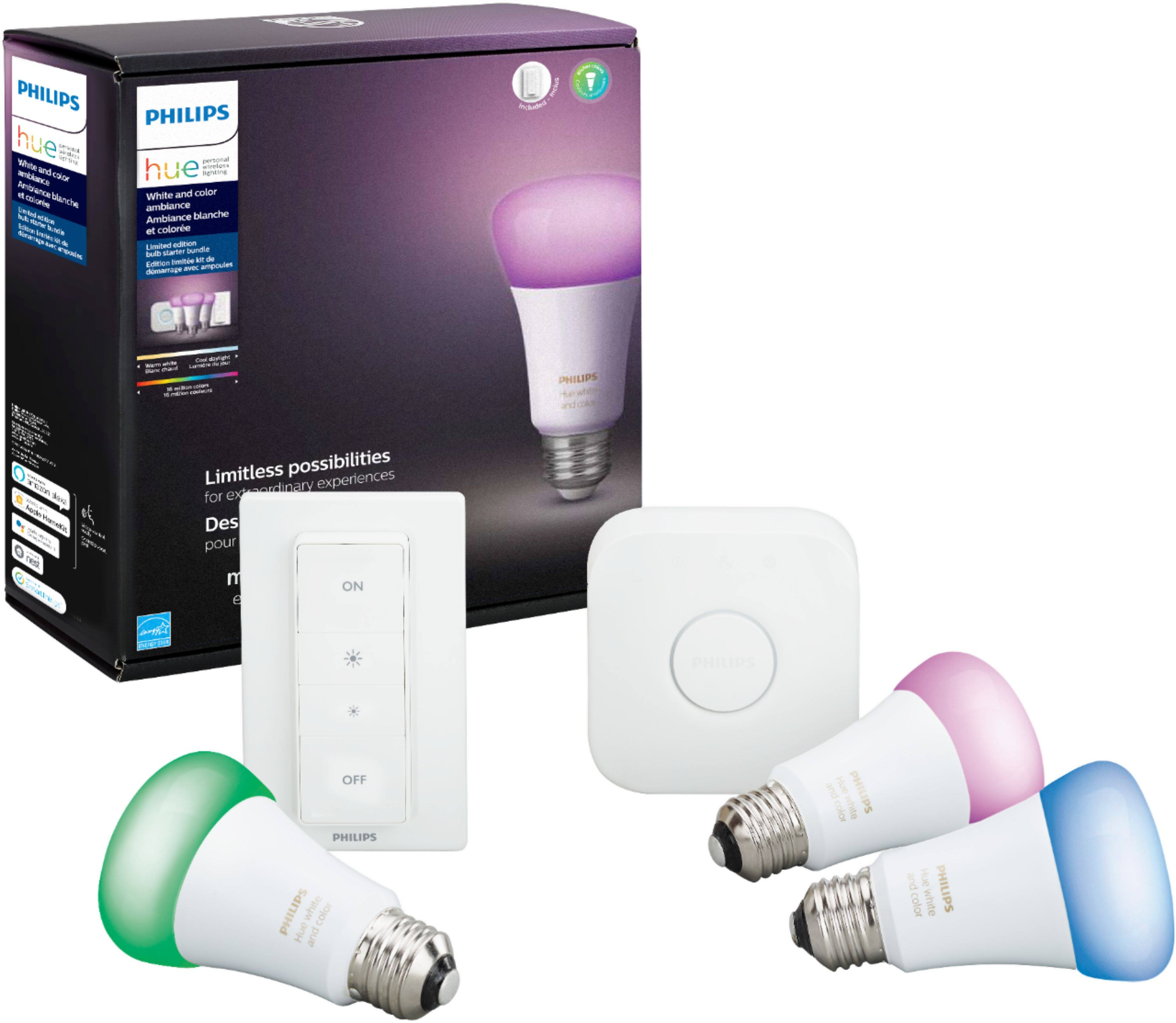 Philips Hue White & Color Ambiance LED Starter Kit - $60 off at Best Buy $129.99