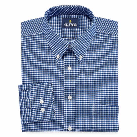 JCPenney Men's Stafford Wrinkle-Free Dress Shirts For $13