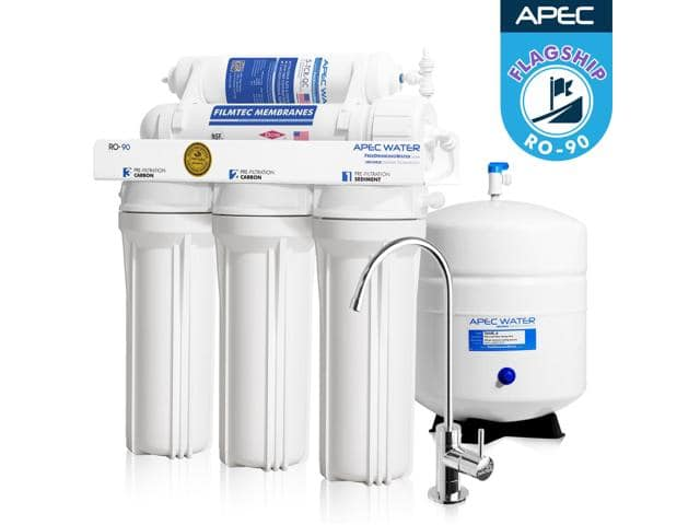 APEC RO-90 Top Tier Supreme Certified 90GPD High-Flow Ultra Safe Reverse Osmosis Drinking Water Filter System - $230/FS