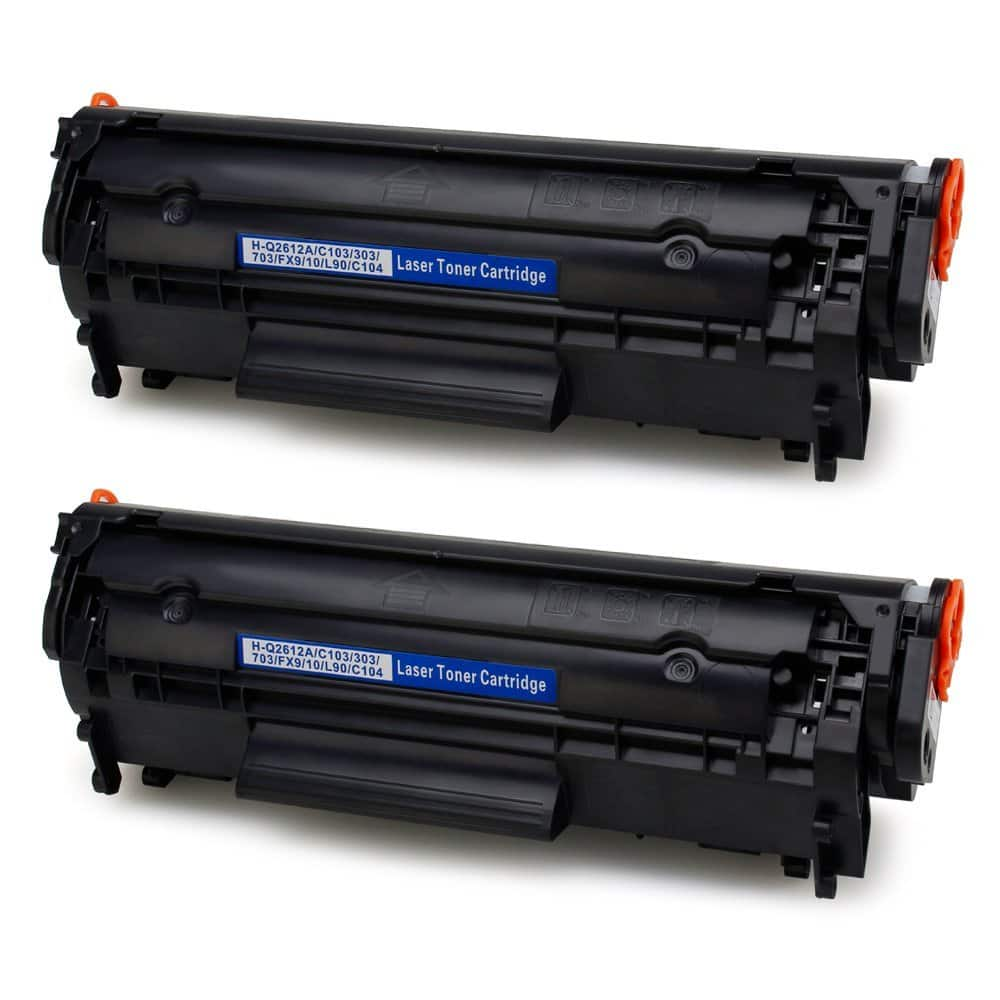 IKONG 2-BLACK Compatible Toner Cartridge Replacement for LaserJet 12A Q2612A - $9.09AC/FS