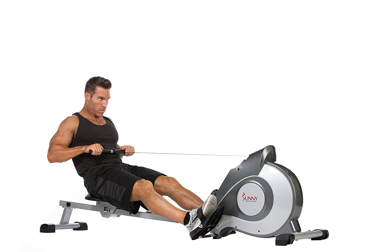 Sunny Health & Fitness SF-RW5515 Magnetic Rowing Machine Rower w/ LCD Monitor - $184.99