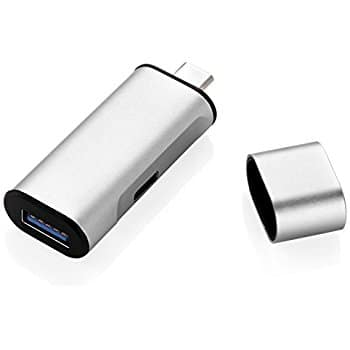 Aluminum USB-C Hub Charger Adapter with Type C Charging Port $4.89