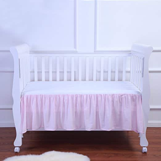 100% Cotton Baby Crib Skirt for $5.60 a/c + Free Shipping