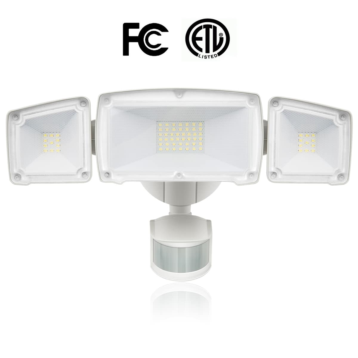 LED Security Light, 39W (200W Equivalent) Outdoor Motion Sensor Light, 3000lm, 5000K Daylight White, Waterproof IP65, ETL, 3 Adjustable Heads, 120v $38.39