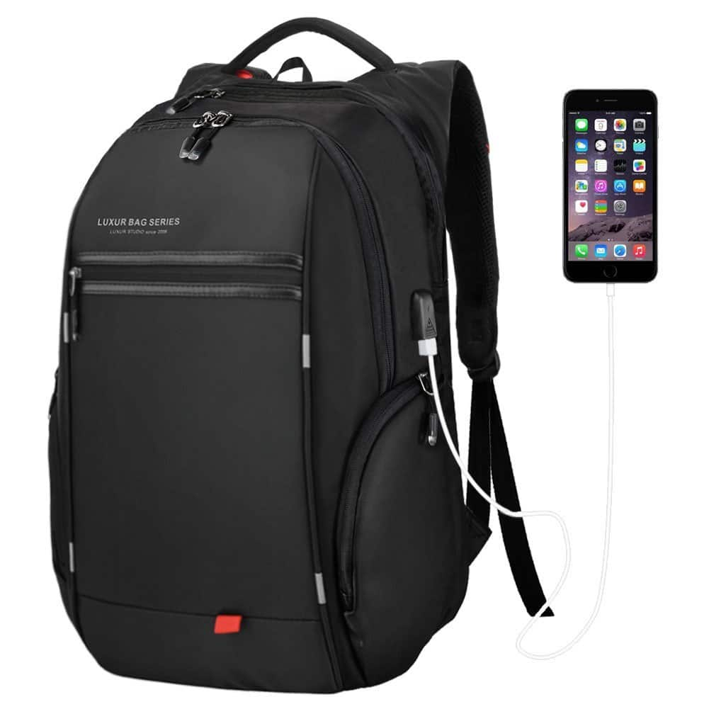 37L Laptop Backpack with USB Charging Port $17.99 AC @ Amazon