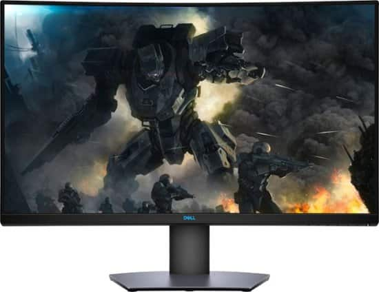 """Dell - 32"""" LED Curved QHD FreeSync Monitor with HDR $359.99"""