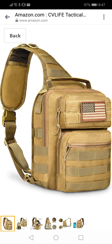 30% off CVLIFE Tactical Sling Bag $16.79