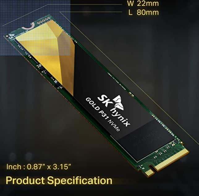 500GB SK hynix Gold P31 PCIe NVMe Gen3 M.2 2280 Internal SSD $63.74