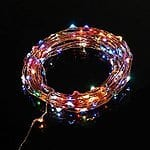 TaoTronics Led String Lights Starry String Light Copper Wire Lights in 7 rainbow colors (100 Leds, 33ft, Adapter Powered) for $12.99 at Amazon