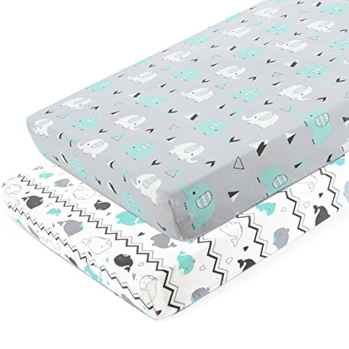 Pack n Play Stretchy Fitted Pack n Play Playard Sheet Set-Brolex 2 Pack Portable Mini Crib Sheets,Convertible Playard Mattress Cover ($12.59 + Amazon Prime Free Shipping)