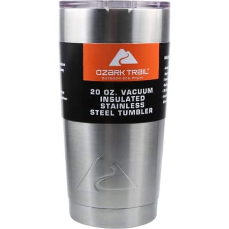 Ozark Trail 20-Ounce Double-Wall, Vacuum-Sealed Tumbler - $5 - IN STORE ONLY - YMMV