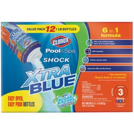 Clorox Pool&Spa 12-Pack Shock XtraBlue 16 oz. Pool Shock $39.98