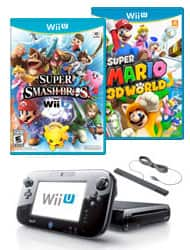 WIi U Refurb Bundle - 32gb system + Super Mario 3D World + Super Smash Bros WIi U - $169.99 - gamestop