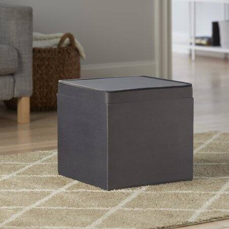 Strange Better Home Gardens Velvet Storage Ottoman With Tray Camellatalisay Diy Chair Ideas Camellatalisaycom
