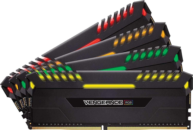 CORSAIR Vengeance RGB 32GB (4x8GB) DDR4 2666MHz C16 Desktop Memory $189.99