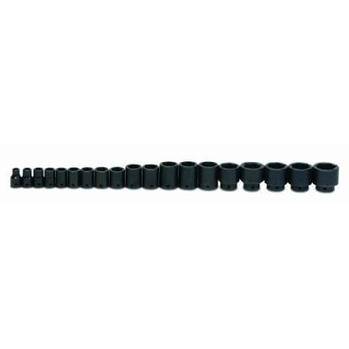 Williams WS-4-19RC 19-Piece 1/2-Inch Drive Shallow 6 Point Impact Socket Set $137.67