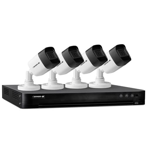 Save 45% on Defender 4-Channel 4-Camera 4K Security System with 1TB DVR $219.99