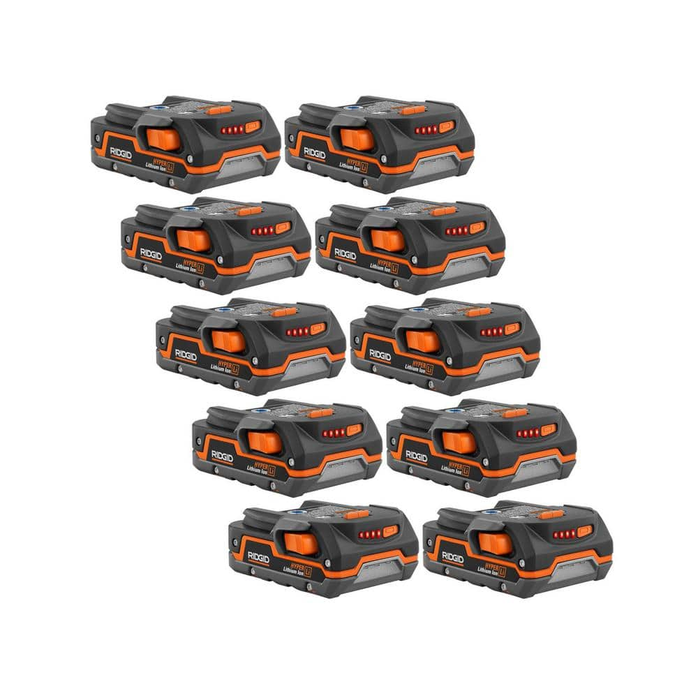 71% off RIDGID 18-Volt 1.5 Ah Compact Lithium-Ion Battery (10-Pack) $228.99