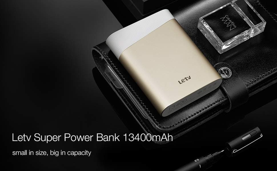 Letv 13400mAh Portable Super Power Bank QC 2.0 Gold FS Prime $12.99