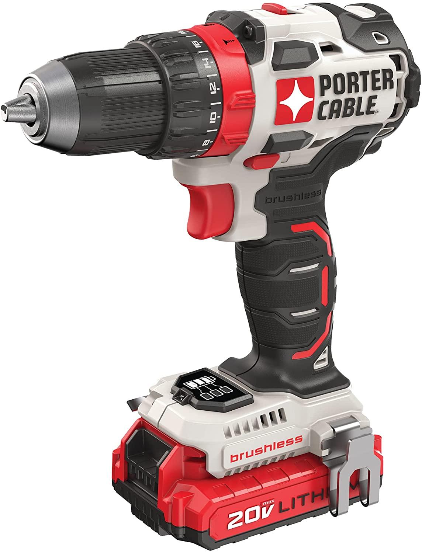 Amazon.com: PORTER-CABLE 20V MAX Cordless Drill / Driver Kit, 1/2-Inch (PCCK607LB) : Tools & Home Improvement $89