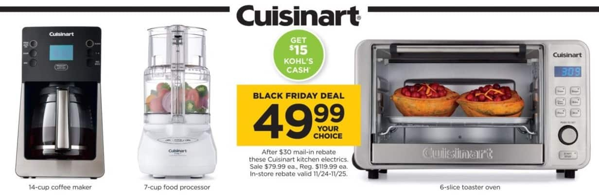 Kohl s Black Friday: Cuisinart 6-Slice Toaster Oven + USD 15 Kohl s Cash for USD 49.99 after USD 30.00 ...