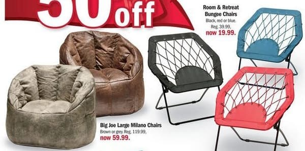 Meijer Black Friday: Room & Retreat Bungee Chairs for $19.99