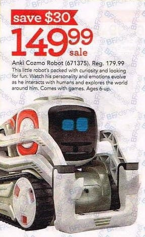Toys R Us Black Friday: Anki Cozmo Robot for $149.99