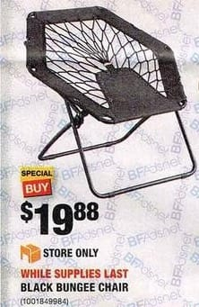 Home Depot Black Friday: Black Bungee Chair For $19.88