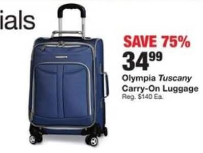 Fred Meyer Black Friday: Olympia Tuscany Carry-On Luggage for $34.99