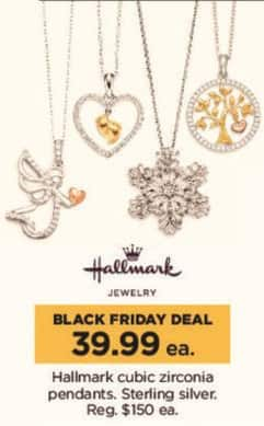 Kohl's Black Friday: Hallmark Cubic Zirconia Sterling Silver Pendants for $39.99