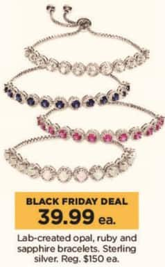 Kohl's Black Friday: Lab-Created Opal, Ruby, or Sapphire Sterling Silver Bracelets - Your Choice for $39.99