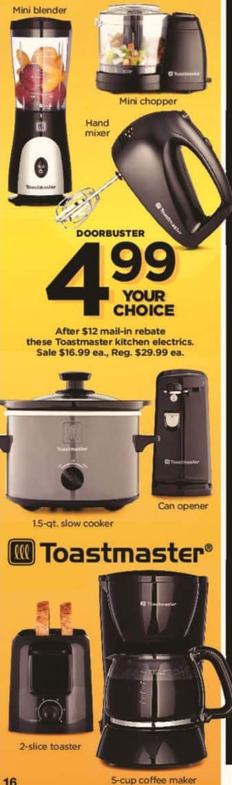 Kohl S Black Friday Select Toastmaster Small Appliances