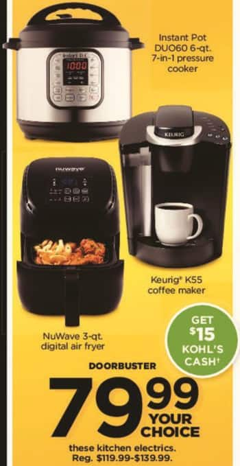 Kohl's Black Friday: Keurig K55 Coffee Maker + $15 Kohl's Cash for $79.99