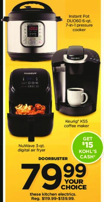 Kohl's Black Friday: NuWave 3-qt Digital Air Fryer + $15 Kohl's Cash for $79.99