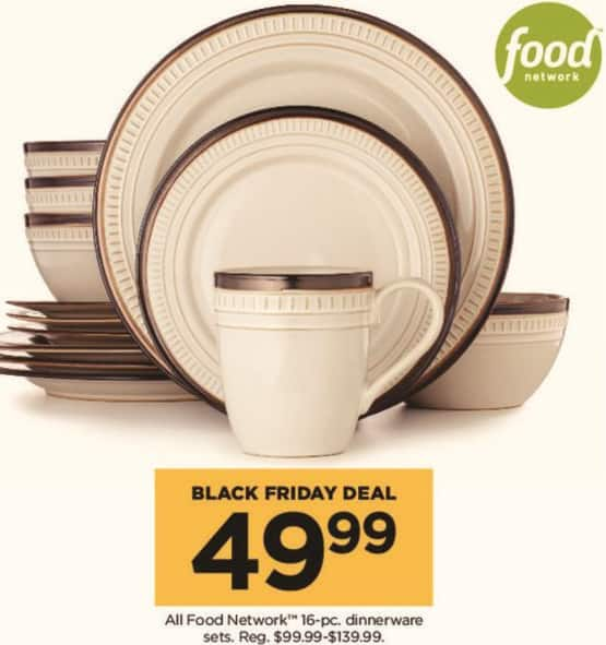 Kohl's Black Friday: Food Network 16-pc Dinnerware Sets for $49.99