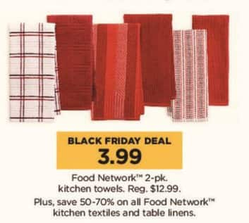 Kohl's Black Friday: Food Network 2-pk Kitchen Towels for $3.99