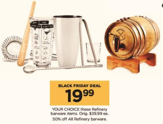 Kohl's Black Friday: Select Refinery Barware Items for $19.99