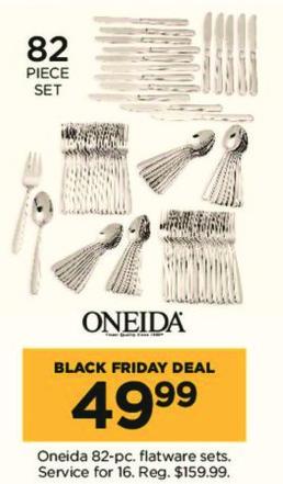 Kohl's Black Friday: Oneida 82-pc Flatware Sets for $49.99
