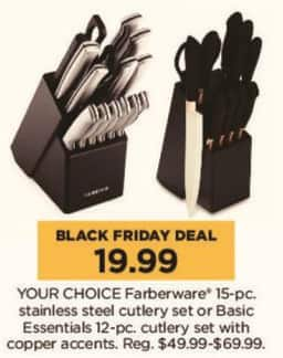 Kohl's Black Friday: Basic Essentials 12-pc Cutlery Set w/ Copper Accents for $19.99