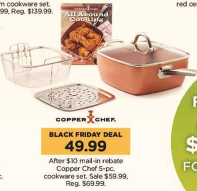 Kohl's Black Friday: Copper Chef 5-pc Cookware Set for $49.99 after $10.00 rebate