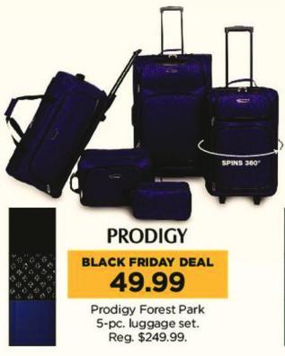 Kohl's Black Friday: Prodigy Forest Park 5-pc Luggage Set for $49.99