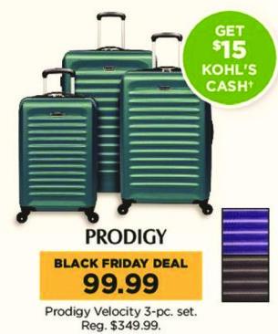 Kohl's Black Friday: Prodigy Velocity 3-pc Set + $15 Kohl's Cash for $99.99