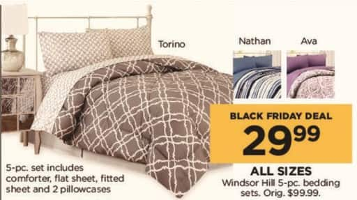 Kohl's Black Friday: Windsor Hill 5-pc Bedding Sets (Any Size) for $29.99