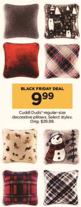 Kohl's Black Friday: Select Cuddl Duds Regular-Size Decorative Pillows for $9.99